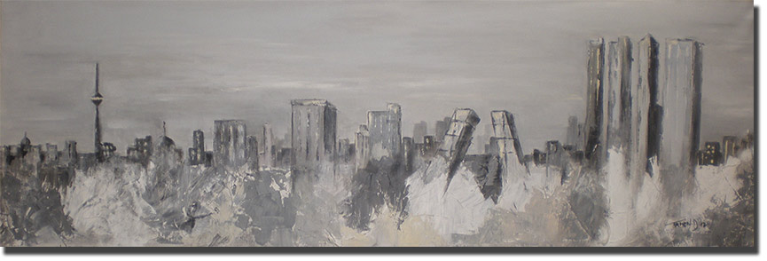 Skyline Madrid Gris